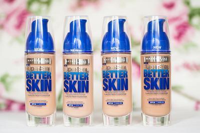 Foundation dengan SPF untuk Kulit Terlindung Sinar UV:  Maybelline SuperStay Better Skin Foundation