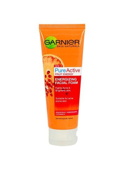 2. Garnier Pure Active Fruit Energy Energising Facial Foam