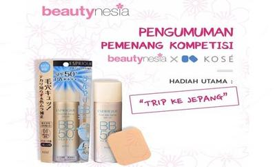 Pengumuman Pemenang Kontes On the Spot Review Beautynesia x KOSÉ