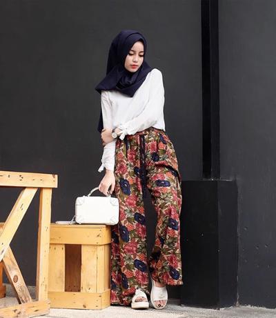 Inspirasi Padu Padan Celana Kulot Untuk Hijabers Muslim