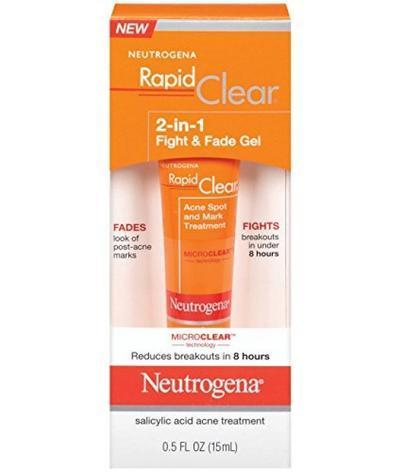 3. Neutrogena Rapid Clear 2-in-1 Fight & Fade Gel