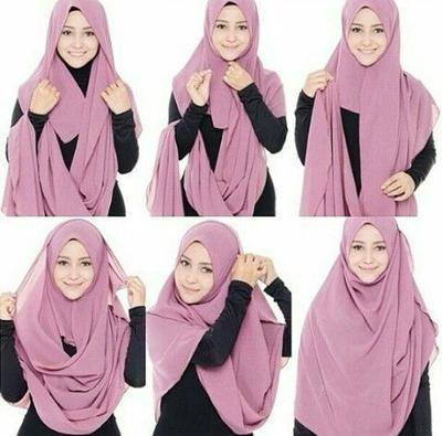 Tutorial Hijab Pashmina Syari Menutup Dada