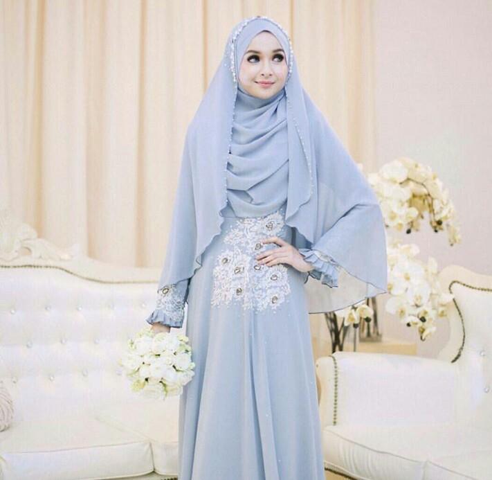 10 Inspirasi Pilihan Gaun Pernikahan Muslim Syar I Yang Modern