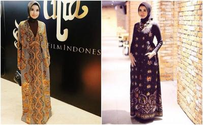 Steal The Look! Fashion Hijab ala Laudya Cynthia Bella Nuansa Batik untuk Acara Formal