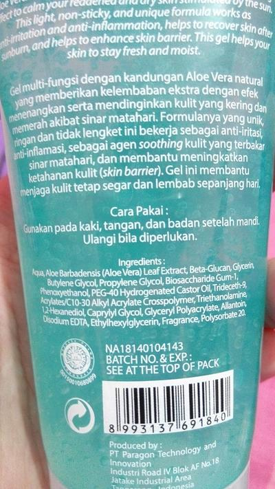 Wardah Aloe Vera Gel VS Nature Republic