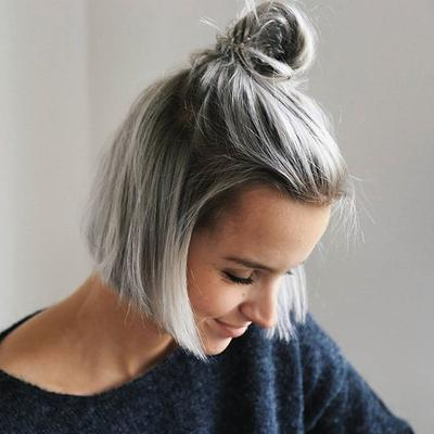 Image result for warna rambut Silver platinum