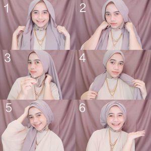 2. Tutorial Hijab Segi Empat Turban
