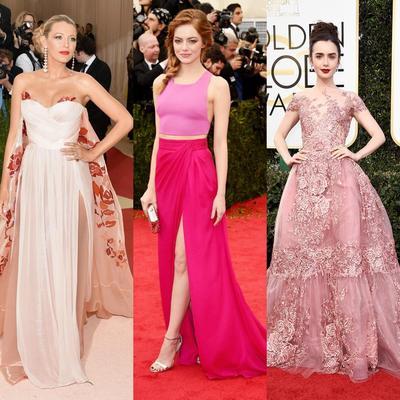 5 Selebriti Ini Berhasil Tampil Memukau dengan Gaun Red Carpet Warna Pink