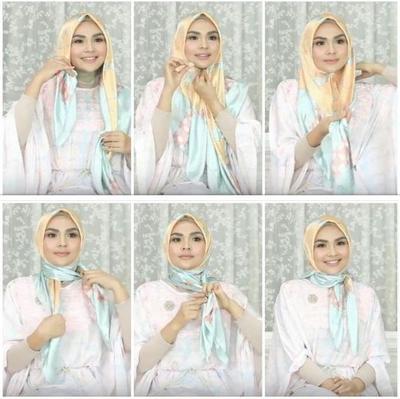 Tutorial Hijab Segi Empat Kekinian 2019 Hijab Converse
