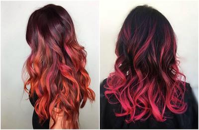 Kombinasi Warna Seru untuk Inspirasi Cat Rambut Merah Ombre