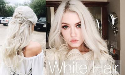 Berani Tampil dengan Cat Rambut Warna Putih? 4 Model Hairstyle Ini Pasti Menginspirasi Kamu!
