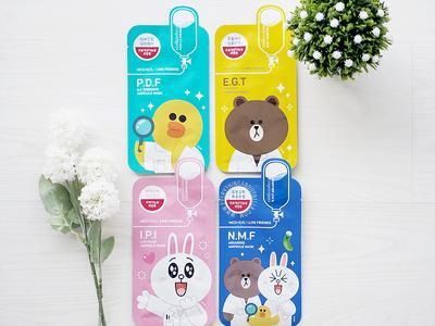 Sheet Mask Korea Super Gemas dengan Karakter LINE yang Ampuh Rawat Kecantikan Kulitmu