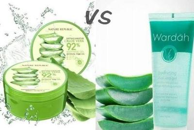 Pilih Mana? Nature Republic VS Wardah Hydrating Aloe Vera Gel