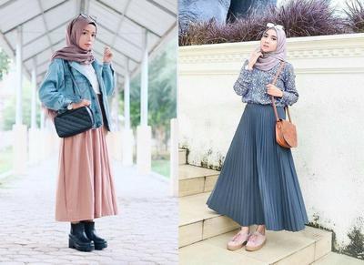 Ini Dia Tips Padu Padan Rok Panjang Hijab Untuk Kamu Yang Bertubuh