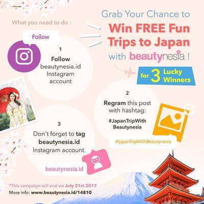 Yuk, Ikutan Campaign Beautynesia.id dan Menangkan Trip Gratis ke Jepang!