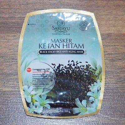 Sariayu Martha Tilaar Black Sticky Rice Anti Aging Mask