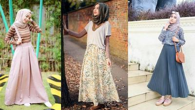 Style Hijab Dengan Rok Overall
