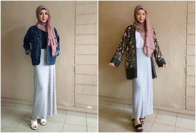Yuk Tampil Feminim Dan Manis Dengan Padu Padan Rok Hijab Kekinian