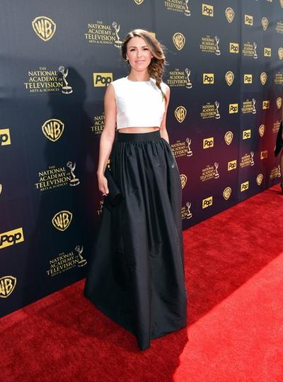 1. A-line Skirt with Cropped Top