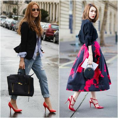 Style Pakaian Ini Cocok Banget Kalau Kamu Padukan dengan Sepatu Merah, Setuju?