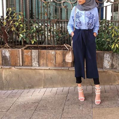 3 Atasan Hijab Paling Stylish Untuk Padu Padan Dengan Celana Kulot