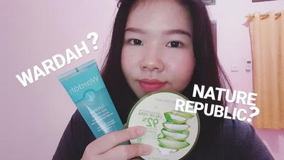 Wardah Aloe Vera Gel vs Nature Republic, Mending Mana?