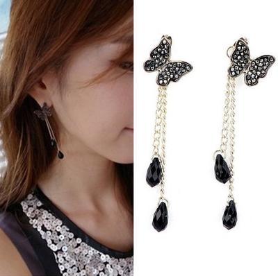 Tassel Butterfly Earrings