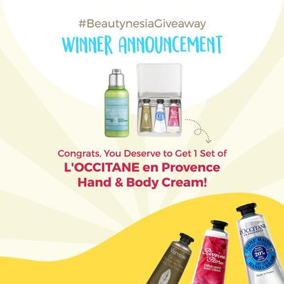 Beautynesia Instagram Giveaway Winner Announcement!