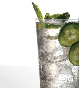 Cucumber, Mint & Basil Soda