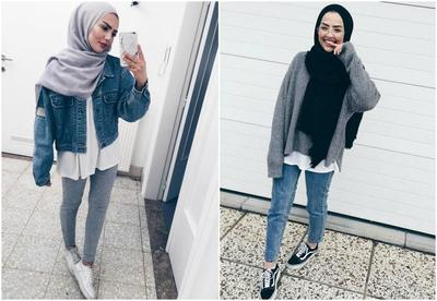 Style Hijab Casual Jaket Jeans