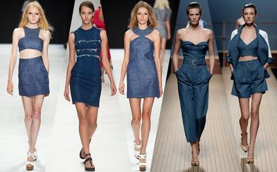 Fashionable Meskipun Kasual, Ini Tren Denim on Denim dari Fashion Runway 2017