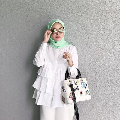 Wow, Ini Dia Kreasi Hijab Warna Hijab Mint yang Fresh dan Cantik!