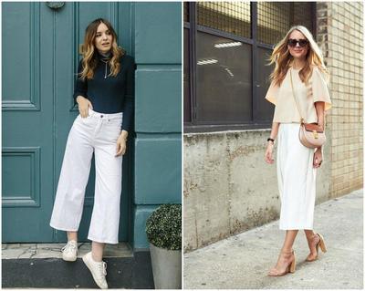 Bikin Celana Kulot Putih Makin Keren Dengan Tips Mix And Match Ini