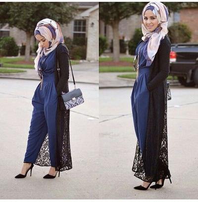 Sudah Punya Belum Ini 4 Model Long Outer Hijab Berbahan Lace Yang