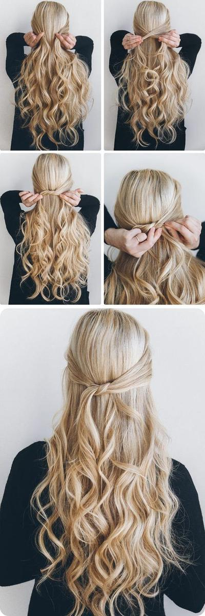 Easy Half Curl Hair