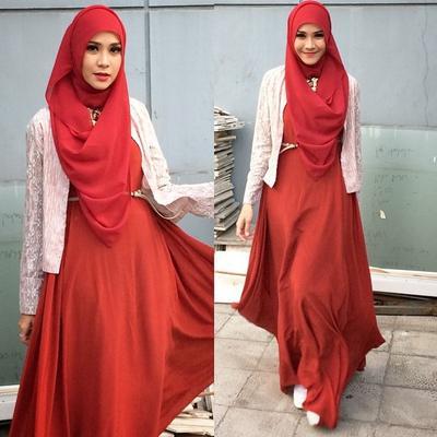 Hijab Merah Untuk Sehari Hari Siapa Takut Ini Dia Inspirasi Padu
