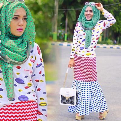[FORUM] Pakai hijab motif busana juga motif, pede gak kamu?