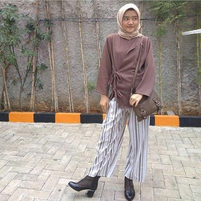 Tribal Vertical Pattern Culottes