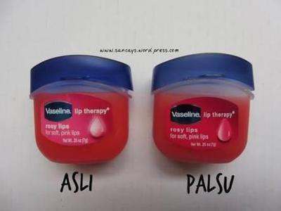 Bagaimana ya cara membedakan vaseline petroleum jelly yang asli dan palsu?