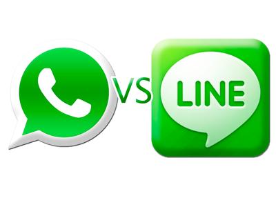 Ladiess Nanya Dong, Kalian Lebih Suka Pakai Whatsapp atau Line untuk Chatting Sehari2?
