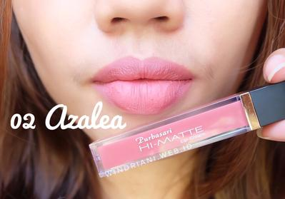 Purbasari Hi-Matte Lip Cream No. 02 Azalea