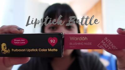 Pertarungan Lipstik Murah : Mending Purbasari,Wardah, atau Maybelline
