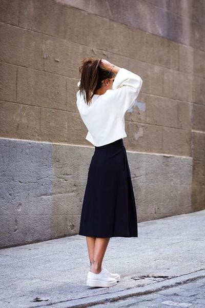 A Line Midi Skirt