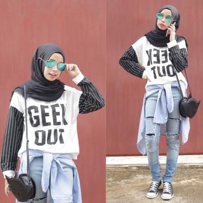 Atasan Lengan Pendek Untuk Hijab Style, Kenapa Tidak?