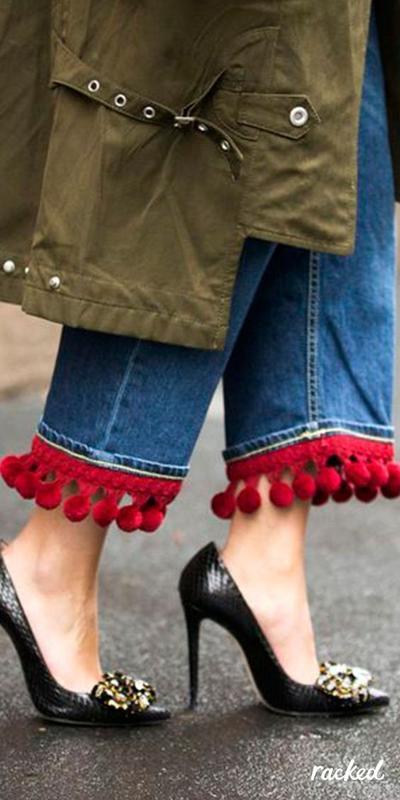 Pom-pom Jeans