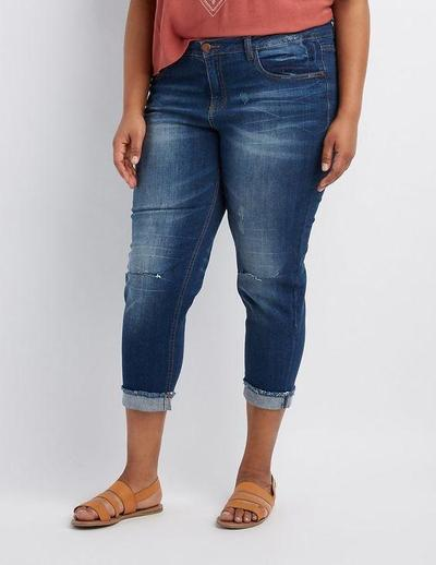 Cuffed Jeans and Tucked In Tops or Crop Tops