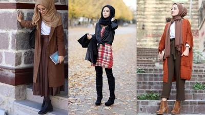 Style Hijab Menggunakan Sepatu Boots