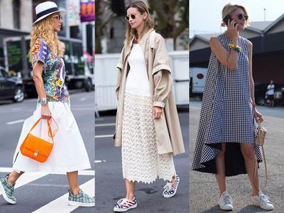 Ladies, Ini Dia Tips Padu Padan Dress dengan Sneakers yang Bikin Penampilan Kamu Kece!
