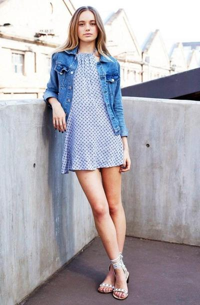 Denim Jacket & Simple Dress