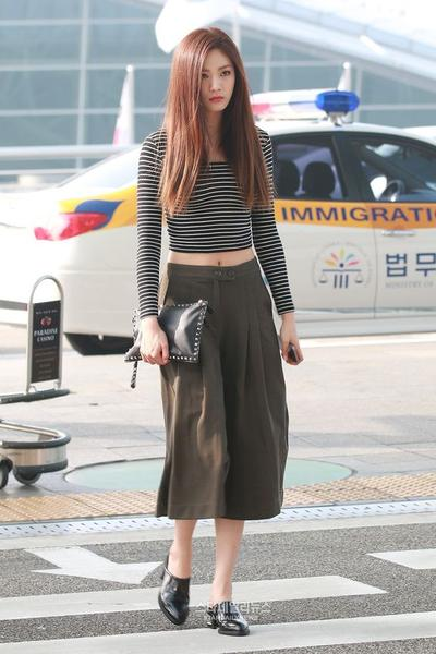 Stripes Crop Tops and Culottes
